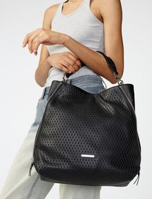 ARMANI EXCHANGE Perforated Paneled Hobo Shoulder bag Woman a