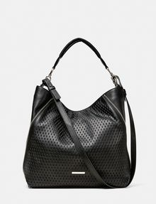 ARMANI EXCHANGE Perforated Paneled Hobo Shoulder bag D f