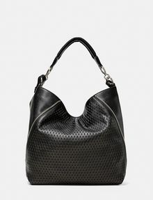 ARMANI EXCHANGE Perforated Paneled Hobo Shoulder bag D r