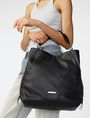 ARMANI EXCHANGE Perforated Paneled Hobo Shoulder bag D a