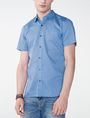 ARMANI EXCHANGE Short-Sleeve Microprint Shirt Short sleeve shirt Man f