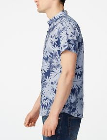 ARMANI EXCHANGE Short-Sleeve Palm Oxford Shirt Short sleeve shirt U d