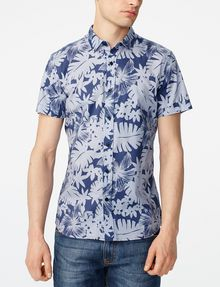 ARMANI EXCHANGE Short-Sleeve Palm Oxford Shirt Short sleeve shirt U f