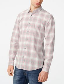 ARMANI EXCHANGE Muted Plaid Shirt Long sleeve shirt [*** pickupInStoreShippingNotGuaranteed_info ***] f