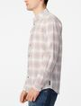 ARMANI EXCHANGE Muted Plaid Shirt Long sleeve shirt [*** pickupInStoreShippingNotGuaranteed_info ***] d