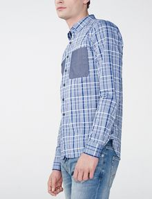ARMANI EXCHANGE Contrast Pocket Plaid Shirt Long sleeve shirt U d