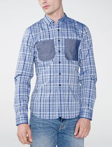 ARMANI EXCHANGE Contrast Pocket Plaid Shirt Long sleeve shirt U f