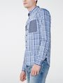 ARMANI EXCHANGE Contrast Pocket Plaid Shirt Long sleeve shirt Man d