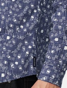 ARMANI EXCHANGE Negative Space Dot Print Shirt Long sleeve shirt Man e