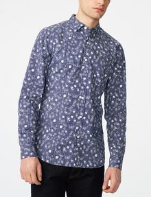 ARMANI EXCHANGE Negative Space Dot Print Shirt Long sleeve shirt Man f