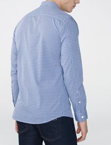 ARMANI EXCHANGE Slim-Fit Check Tab Collar Shirt Long sleeve shirt U r