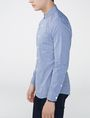 ARMANI EXCHANGE Slim-Fit Check Tab Collar Shirt Long sleeve shirt U d