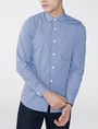 ARMANI EXCHANGE Slim-Fit Check Tab Collar Shirt Long sleeve shirt U f