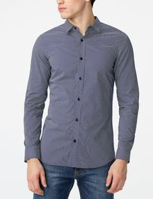 ARMANI EXCHANGE Mixed Microdot Shirt Long sleeve shirt Man f