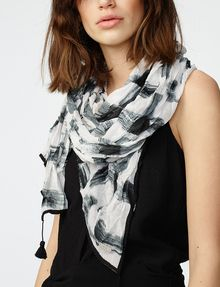 ARMANI EXCHANGE Painted Plaid Scarf Scarf Woman d