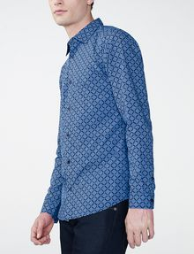 ARMANI EXCHANGE Diagonal Grid Print Shirt Long sleeve shirt U d