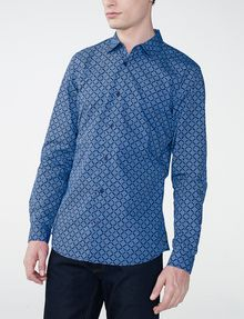 ARMANI EXCHANGE Diagonal Grid Print Shirt Long sleeve shirt Man f