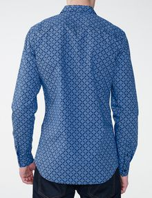 ARMANI EXCHANGE Diagonal Grid Print Shirt Long sleeve shirt Man r
