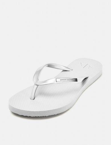 ARMANI EXCHANGE Classic Tonal Flip Flops Woman front