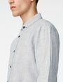 ARMANI EXCHANGE Solid Linen Button-Down Shirt Long sleeve shirt U e