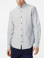 ARMANI EXCHANGE Solid Linen Button-Down Shirt Long sleeve shirt U f