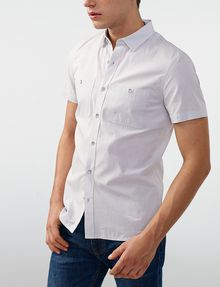 ARMANI EXCHANGE Short-Sleeve End-on-End Shirt Short sleeve shirt U d