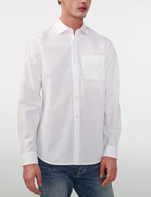 ARMANI EXCHANGE Solid Poplin Regular-Fit Shirt Long sleeve shirt Man f