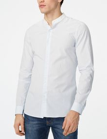 ARMANI EXCHANGE Band Collar Microstripe Shirt Long sleeve shirt [*** pickupInStoreShippingNotGuaranteed_info ***] f