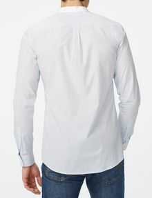 ARMANI EXCHANGE Band Collar Microstripe Shirt Long sleeve shirt [*** pickupInStoreShippingNotGuaranteed_info ***] r