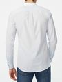ARMANI EXCHANGE Band Collar Microstripe Shirt Long sleeve shirt U r