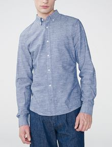 ARMANI EXCHANGE Chambray Slub Shirt Long sleeve shirt U f