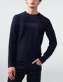 ARMANI EXCHANGE Tonal Stripe Logo Crew Crew Neck Man f