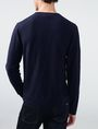 ARMANI EXCHANGE Tonal Stripe Logo Crew Crew Neck Man r