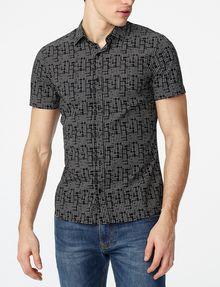 ARMANI EXCHANGE Short-Sleeve Negative Space Shirt Short sleeve shirt Man f