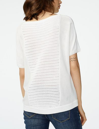 ARMANI EXCHANGE Short-Sleeve Open-Knit Sweater Woman retro