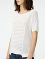 ARMANI EXCHANGE Short-Sleeve Open-Knit Sweater Crew Neck D e