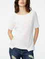 ARMANI EXCHANGE Short-Sleeve Open-Knit Sweater Crew Neck D f