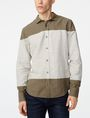 ARMANI EXCHANGE Colorblock Linen Shirt Long sleeve shirt U f