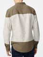 ARMANI EXCHANGE Colorblock Linen Shirt Long sleeve shirt U r