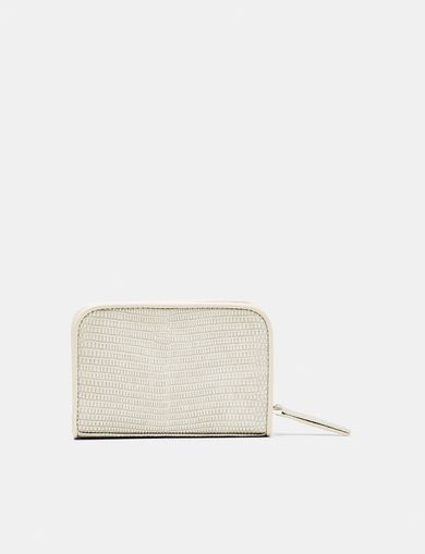 ARMANI EXCHANGE Lizard Mini Zip Wallet Woman retro