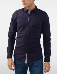 ARMANI EXCHANGE Striped Placket Super-Slim Shirt Long sleeve shirt U f