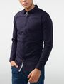 ARMANI EXCHANGE Striped Placket Super-Slim Shirt Long sleeve shirt Man d
