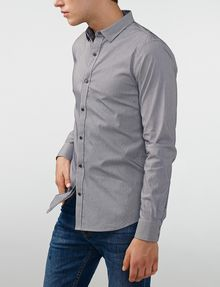 ARMANI EXCHANGE Snap-Front Stretch Slim-Fit Shirt Long sleeve shirt U d
