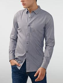 ARMANI EXCHANGE Snap-Front Stretch Slim-Fit Shirt Long sleeve shirt Man f