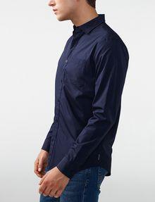 ARMANI EXCHANGE Solid Poplin Regular-Fit Shirt Long sleeve shirt Man d