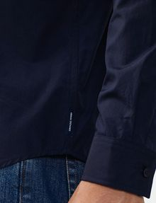 ARMANI EXCHANGE Solid Poplin Regular-Fit Shirt Long sleeve shirt Man e