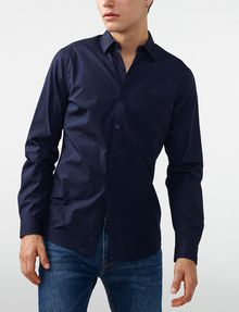 ARMANI EXCHANGE Solid Poplin Regular-Fit Shirt Long sleeve shirt U f