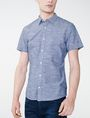 ARMANI EXCHANGE Short-Sleeve Slub Chambray Shirt Short sleeve shirt U f
