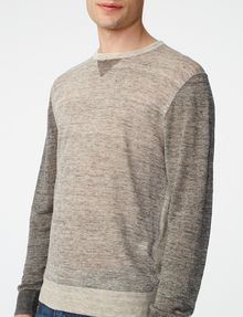 ARMANI EXCHANGE Pieced Linen Sweater Crew Neck U e