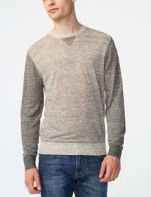 ARMANI EXCHANGE Pieced Linen Sweater Crew Neck U f